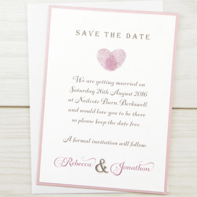 Thumb Print Save the Date