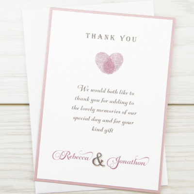 Thumb Print Thank you Card