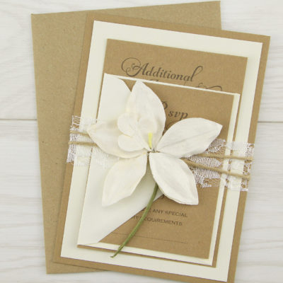 Angel Orchid Parcel Wedding Invitation