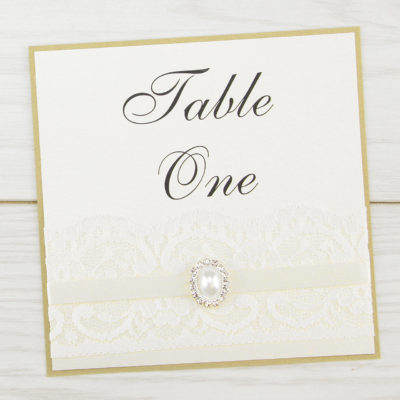 Vintage Lace Table Name / Number