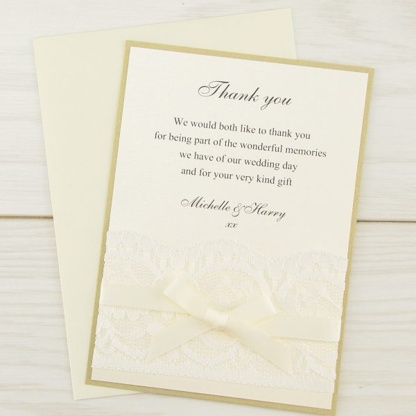 vintage lace thank you card pure invitation wedding invites