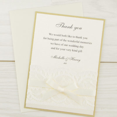 Vintage Lace Thank you Card