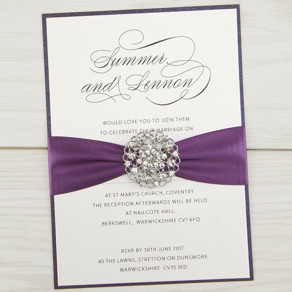 violet parcel wedding invitation pure invitation wedding