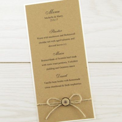 Rustic Menu with Button
