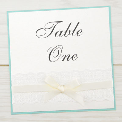 Embroidered Lace Table Name / Number