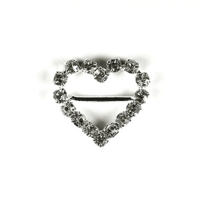 Diamante Heart Buckle with Horizontal Bar