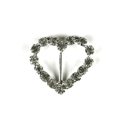 Diamante Heart Buckle with Vertical Bar