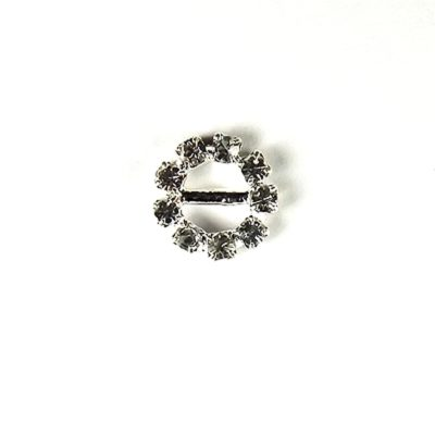 Diamante Circle Buckle Mini