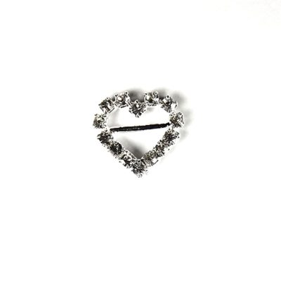 Diamante Heart Buckle with Horizontal Bar – Mini