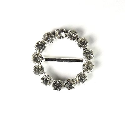 Diamante Circle Buckle Small