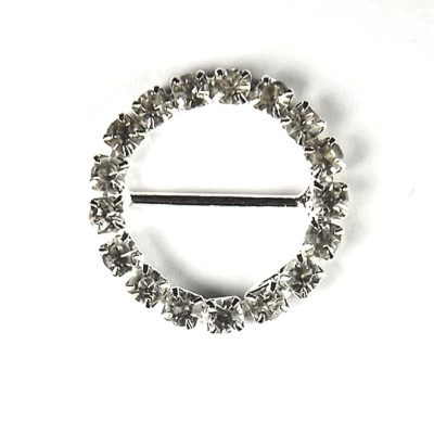 Diamante Circle Buckle Large