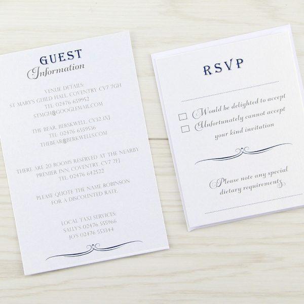 Wedding Invitation Information Card: Pure Invitation Wedding Invites