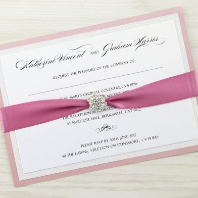 Sparkle Parcel Wedding Invitation