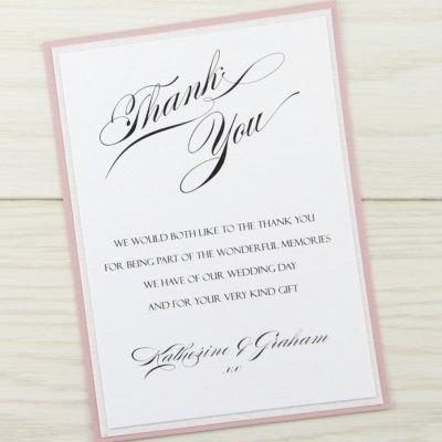 Sparkle Thank you Card