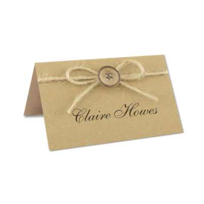 Rustic Button Place Card