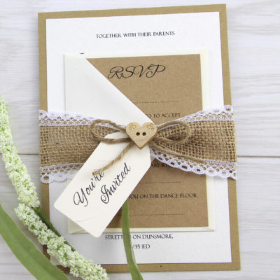 Dakota Parcel Wedding Invitation