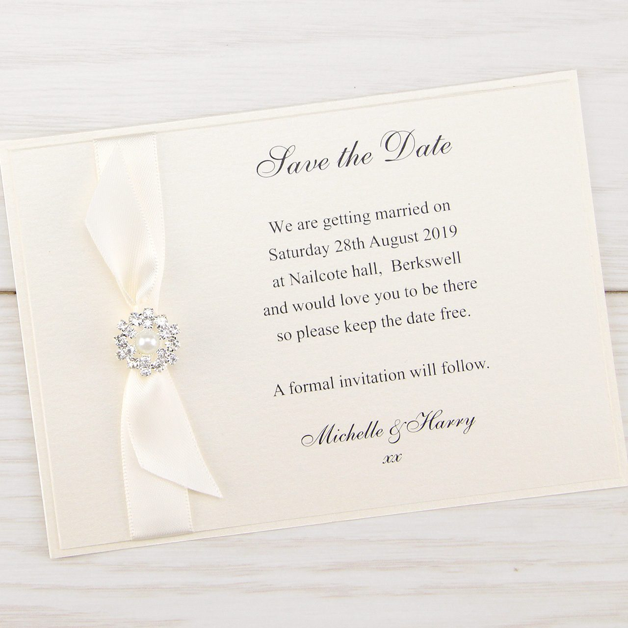 Wedding Save The Dates.Dior Bow Save The Date