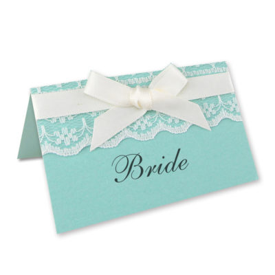 Embroidered Lace Place Card