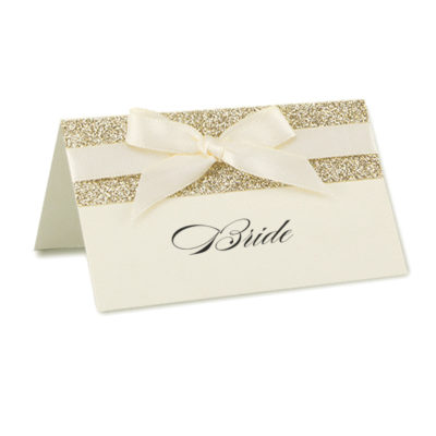 Iris with Glitter Place Card