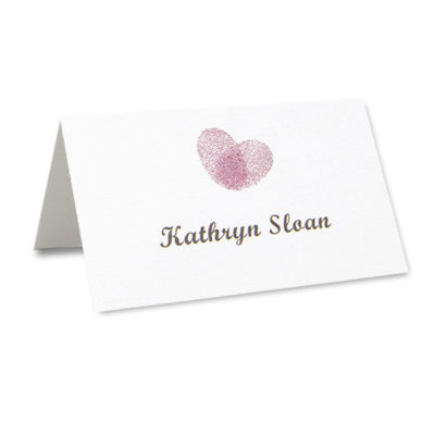 Thumb Print Place Card
