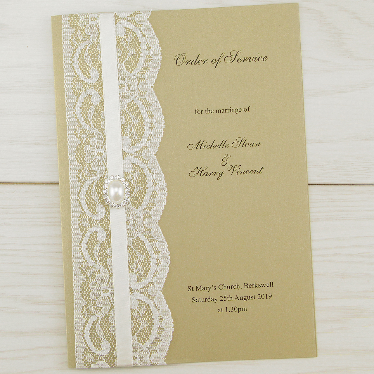 When Should Wedding Invitations Be Ordered: Vintage Lace Order Of Service