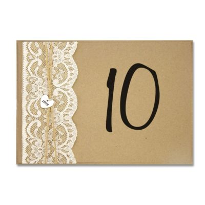 Love Lace Table Name / Number