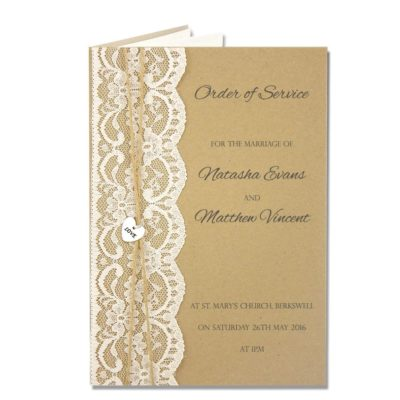 Love Lace Order of Service