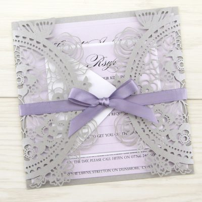 Poppy Laser Cut Wedding Invitation
