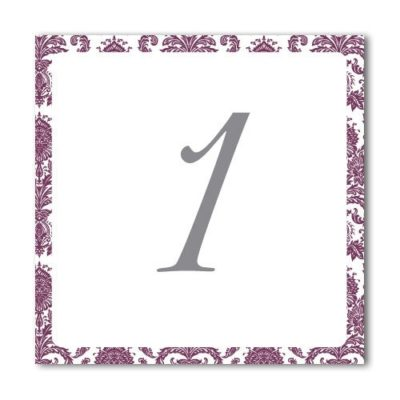 Ornate Damask Table Name / Number