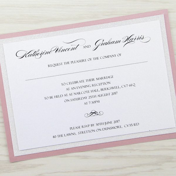 Sparkle evening invitation pure invitation wedding invites for Inexpensive glitter wedding invitations