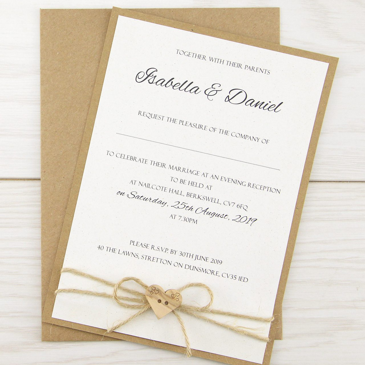 Dakota Evening | Pure Invitation Wedding Invites