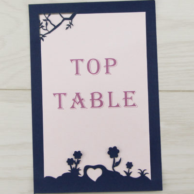 Laurel Tree Contemporary Font Table Number