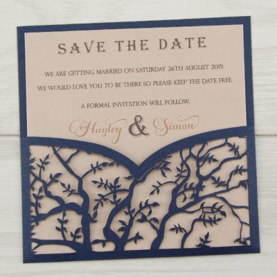 Laurel Save the Date – Contemporary Font