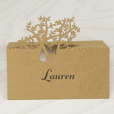 Laurel Tree Place Card – Belly Band Font