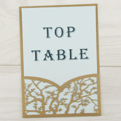 Laurel Pouch Contemporary Font Table Number