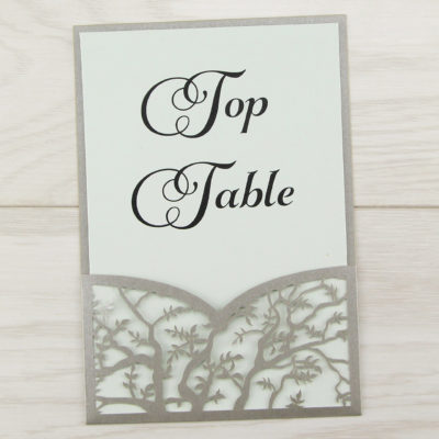 Laurel Pouch Belly Band Font Table Number
