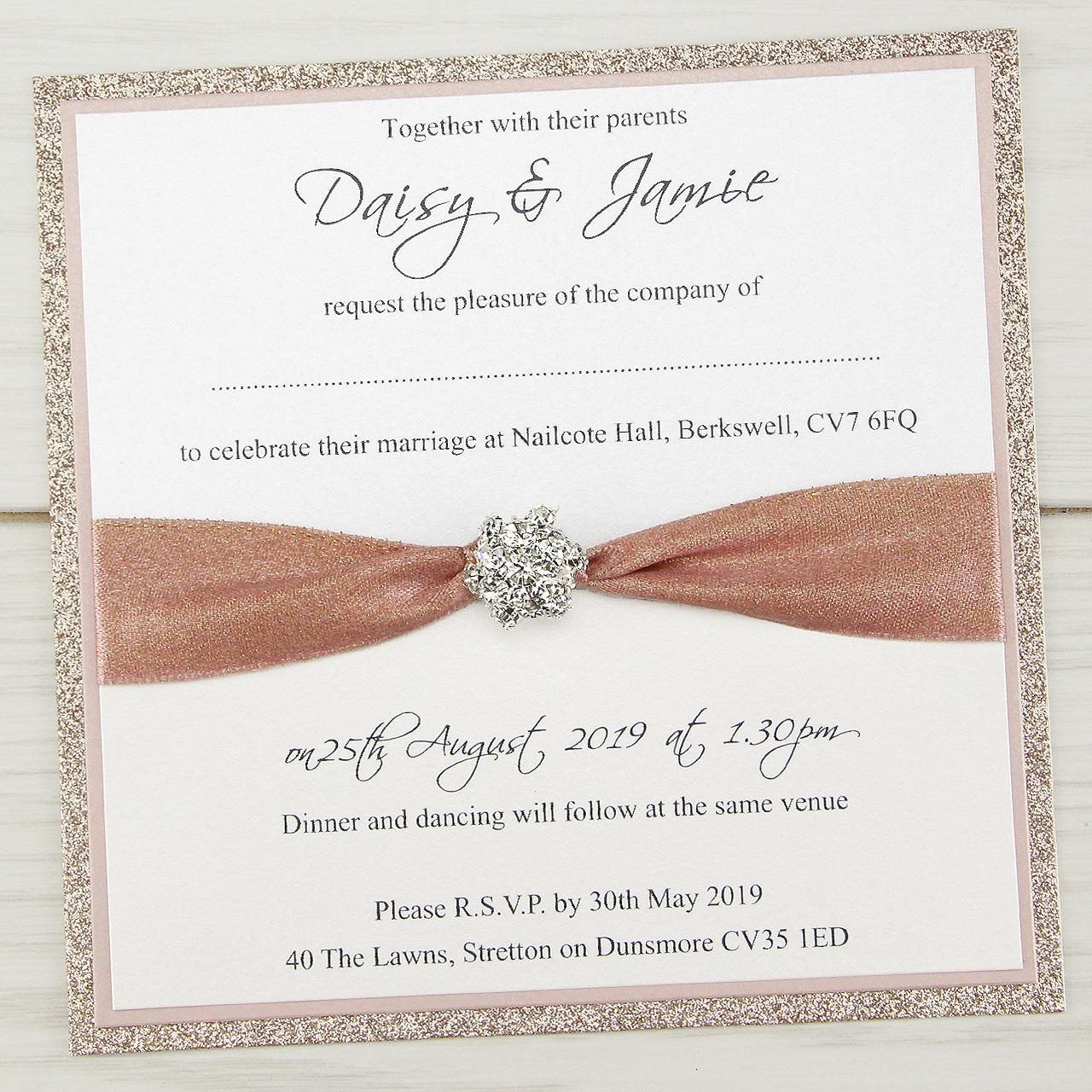 Mya Sparkle Wedding Invitation