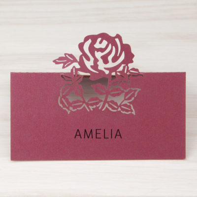 Wedding stationery and supplies pure invitation wedding invites amelia place card stopboris Gallery