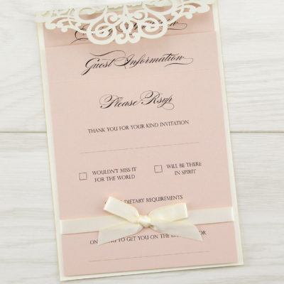 Ruby Evening with satin bow Invitation