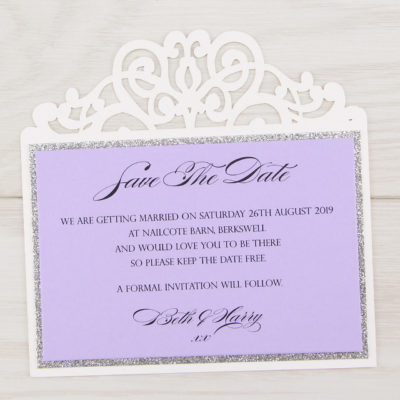 Ruby Glitter Save the Date