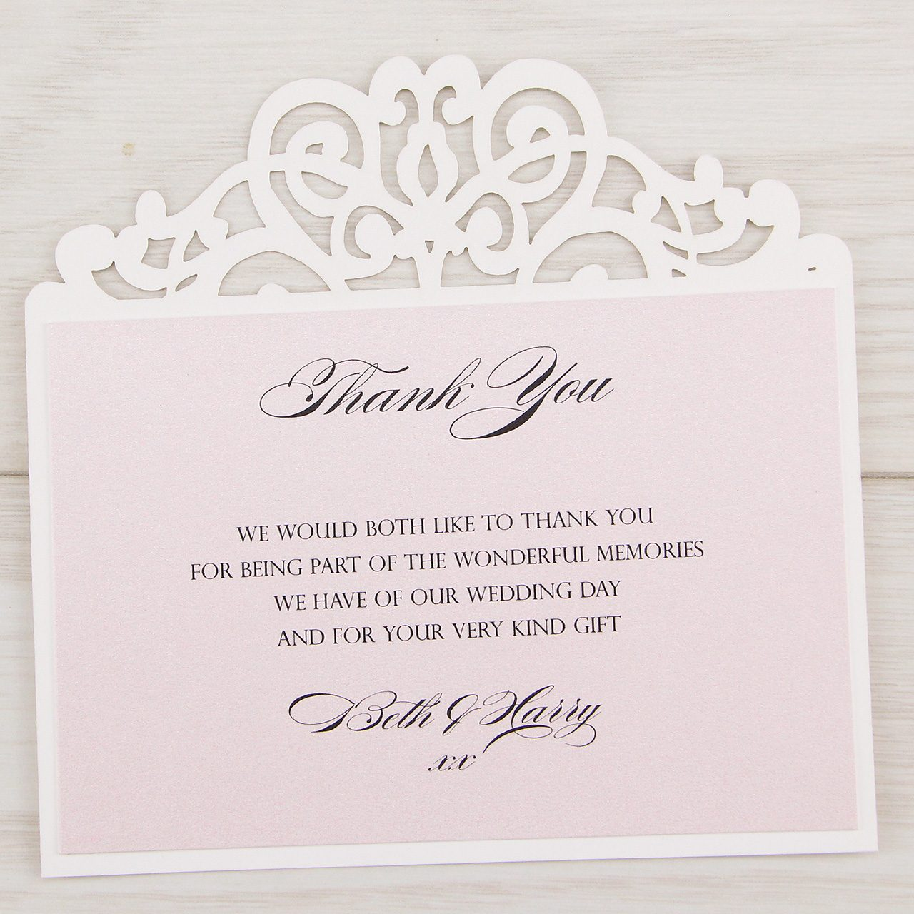 Ruby Thank You Card Pure Invitation Wedding Invites