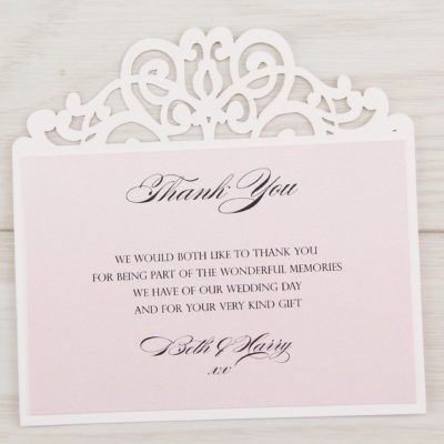 Ruby Thank you Card