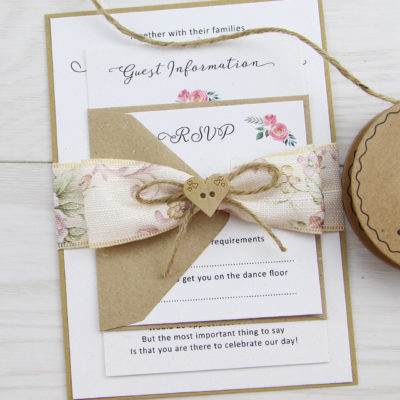 Beatrice Parcel Wedding Invitation