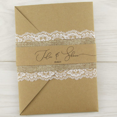 Belle Pocketfold Wedding Invitation