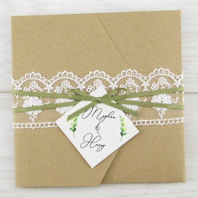 Meghan Pocketfold Wedding Invitation