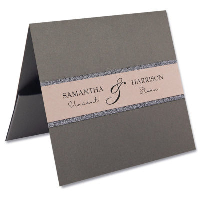 Avril Flat Front Pocketfold Wedding Invitation
