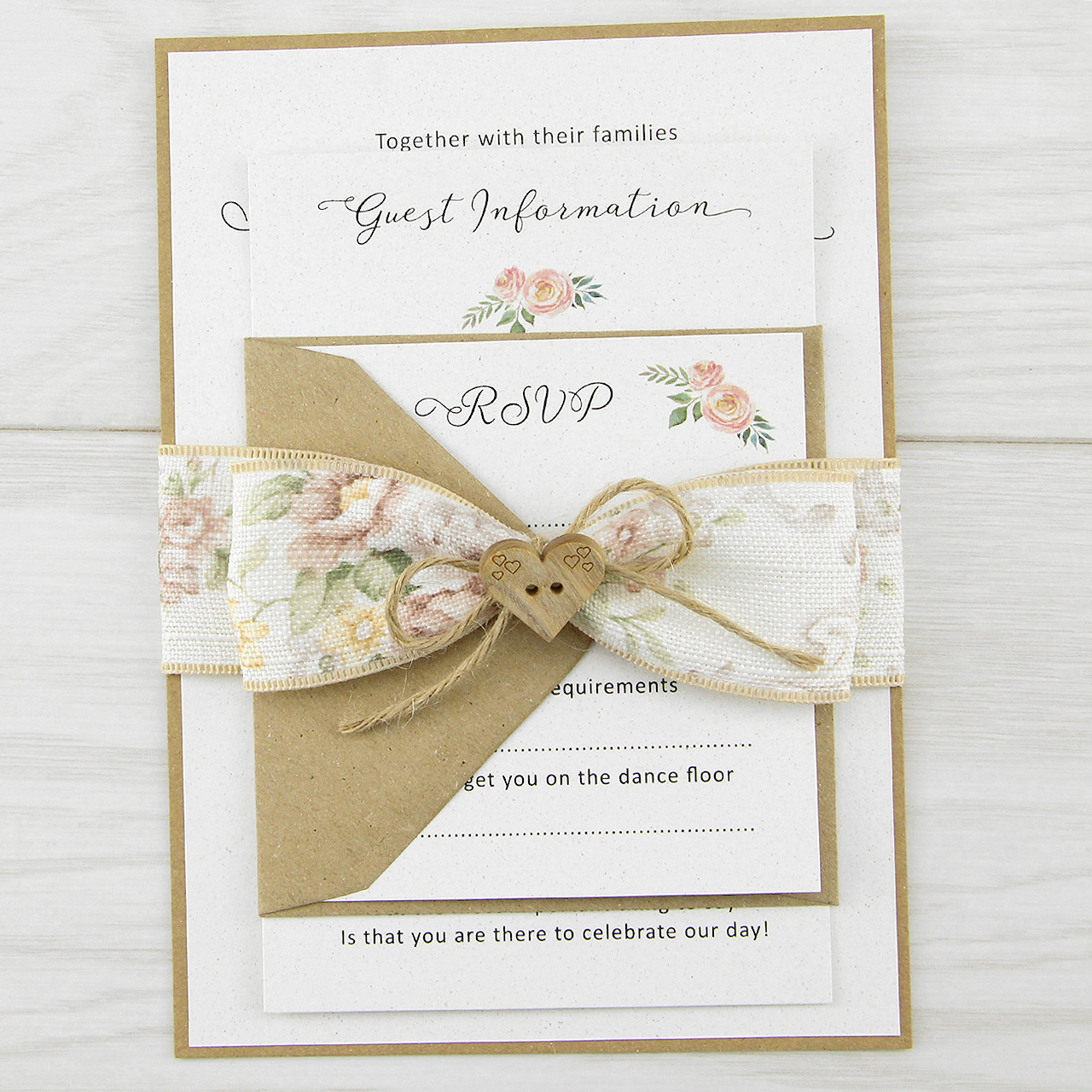 Beatice Parcel Wedding Invitation