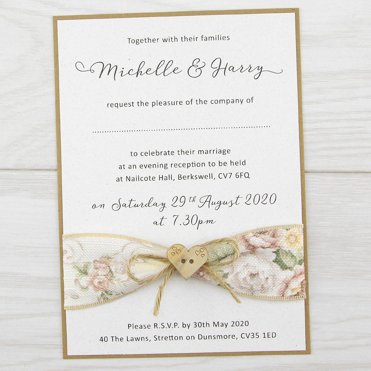 Wedding Ideas For Evening Reception: Pure Invitation Wedding Invites