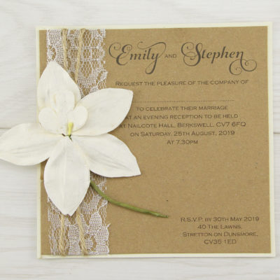 Angel Orchid Evening Invitation