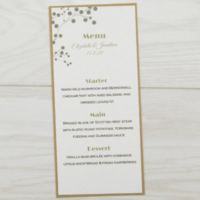 The Barn Menu